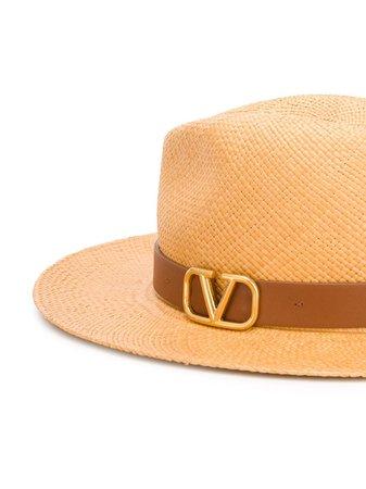 Valentino Garavani VLOGO Straw Hat - Farfetch