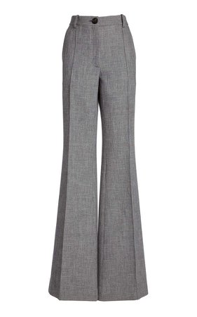 Peter Do High-Rise Flared-Leg Trousers