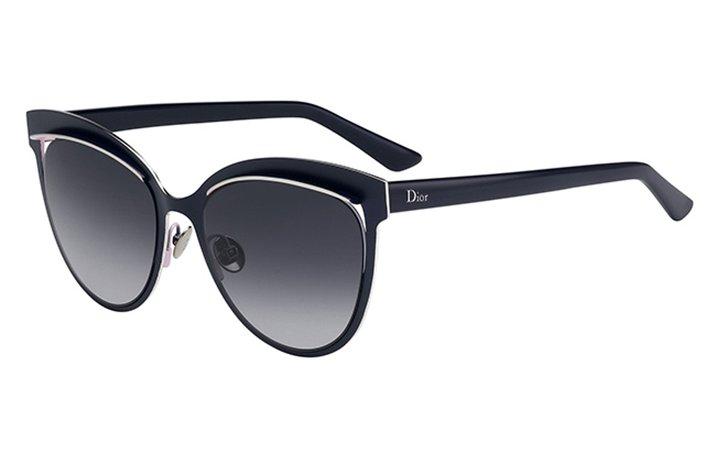 Dior Inspired Women's Cat-Eye Sunglasses - Blue/Gray