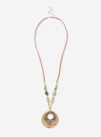 Real Shell Pendant Necklace | Dorothy Perkins gold