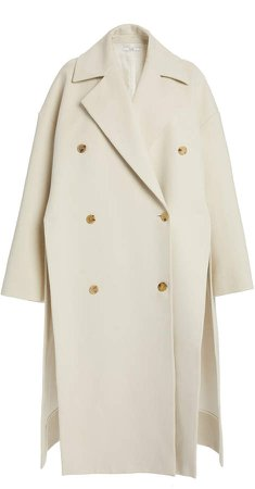 Co Double-Breasted Cotton Coat