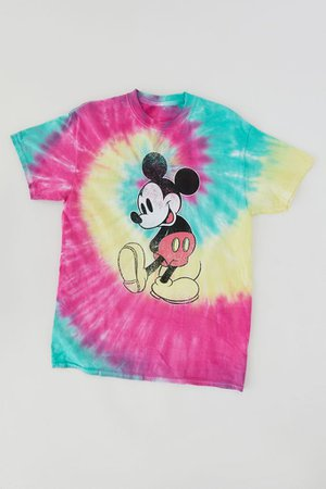 Mickey Mouse Tie-Dye Tee | Urban Outfitters