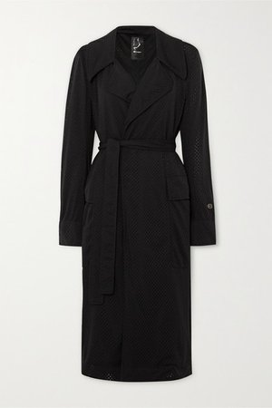 Champion Mesh Trench Coat - Black