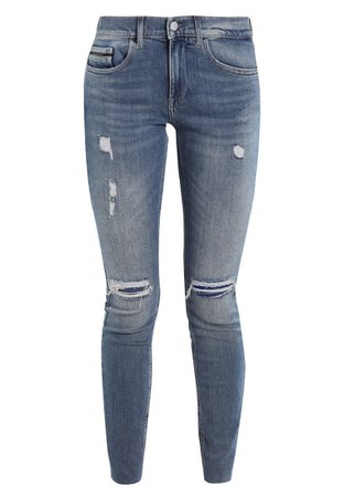 Calvin Klein Jeans MID RISE SKINNY ANKLE RAW - Jeans Skinny Fit