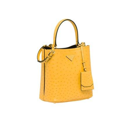 Prada Panier ostrich leather bag | Prada