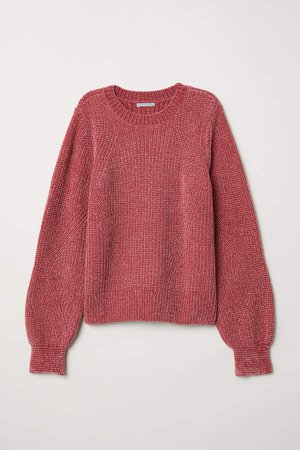 Chenille Sweater - Red