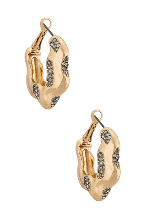 8 Other Reasons Thick Gold Hoop Earring in Gold | REVOLVE
