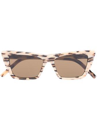 Saint Laurent Eyewear New Wave cat-eye Frame Sunglasses - Farfetch