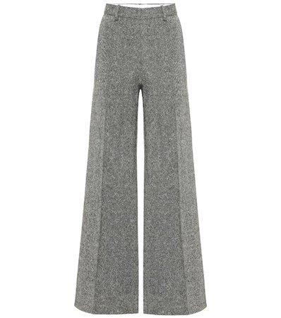 Tweed Wool Wide-Leg Pants - Victoria Beckham | Mytheresa