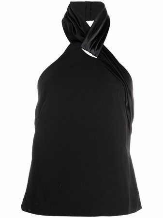 Shop Givenchy twist-detail halterneck top with Express Delivery - FARFETCH