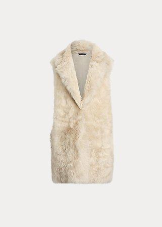 Reversible Shearling Vest