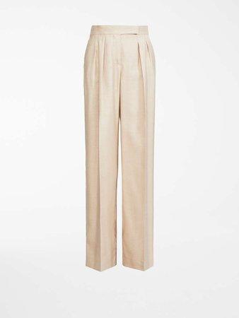 "Camel and silk trousers, camel - ""LUIGI"" Max Mara"