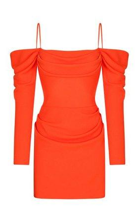 Off-The-Shoulder Draped Crepe Mini Dress By Rasario | Moda Operandi