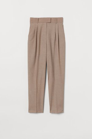 Crease-leg trousers - Beige - Ladies | H&M