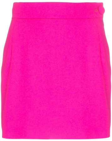 high-waisted mini-skirt