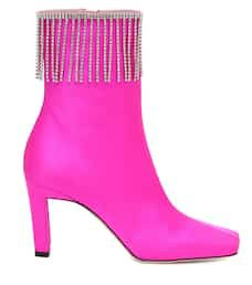 Isa Embellished Satin Ankle Boots | Wandler - Mytheresa