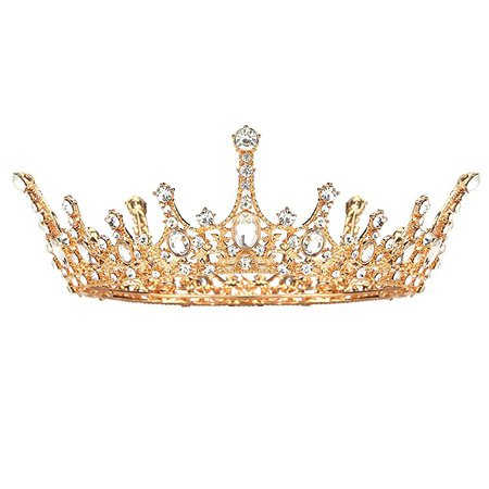 Amazon.com : Makone Queen Crown for Womens Gold Tiara with Clear Rhinestone for Halloween Birthday Girls Prom Halloween Bridal Party : Beauty