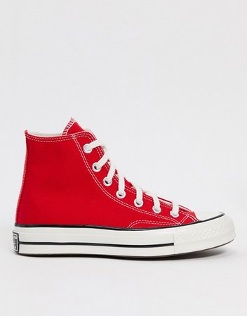 Converse chuck '70 hi sneakers in red | ASOS