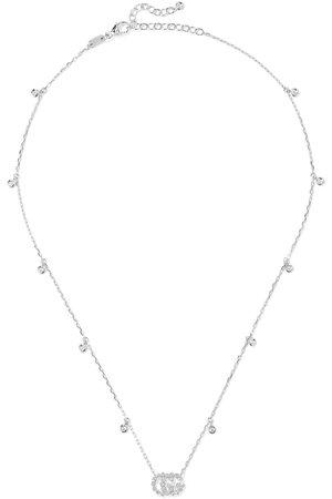 Gucci | 18-karat white gold diamond necklace | NET-A-PORTER.COM