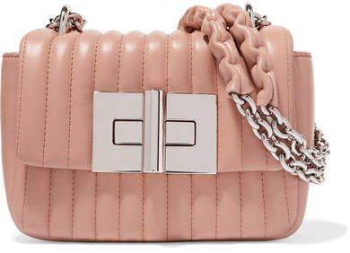Natalia Mini Quilted Leather Shoulder Bag - Blush