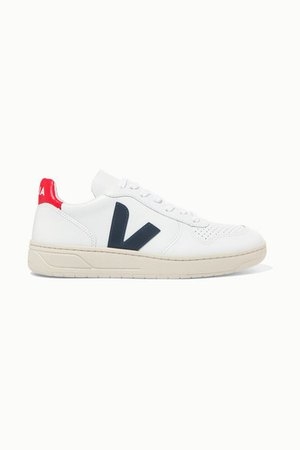 Net Sustain V-10 Leather Sneakers - White