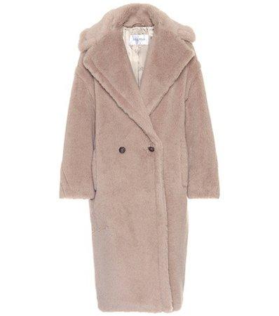 Ginata alpaca and wool-blend coat