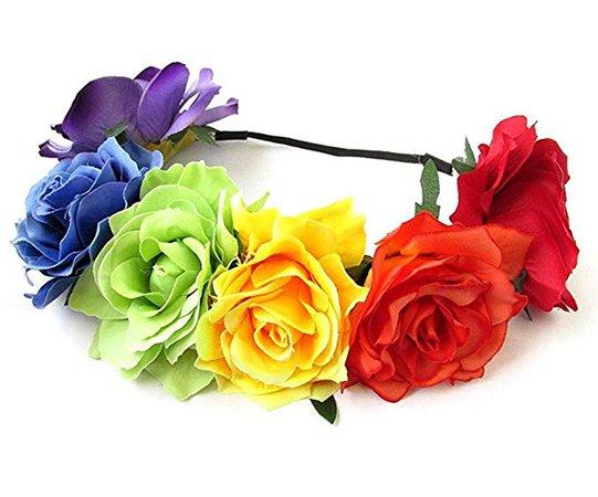 Rainbow Flower Crown