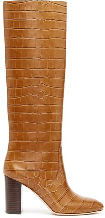 Loeffler Randall Goldy Leather Knee High Boots Size: 6.5