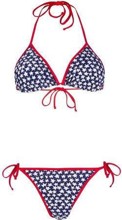 Star-Print Bikini Set