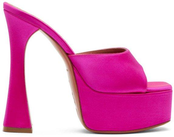 Pink Dalida Heeled Sandals