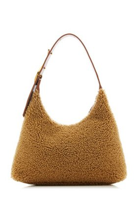 Scotty Shearling Shoulder Bag By Staud | Moda Operandi