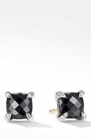 David Yurman Chatelaine® Stud Earrings with Black Onyx & Diamonds | Nordstrom
