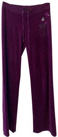 Juicy Couture Burgundy Couture/Velour Pants Size 2 (XS, 26) - Tradesy