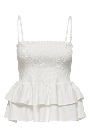 Only Nugga Smock Ruffle Camisole Top | Nordstrom