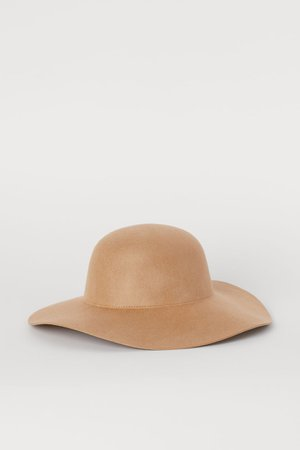 Felted Wool Hat - Camel - | H&M US