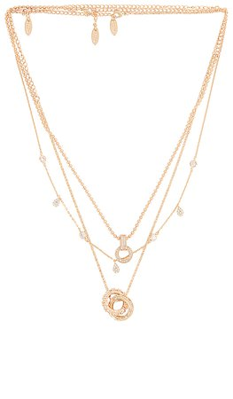 Ettika Layered Pendant Necklace in Gold | REVOLVE