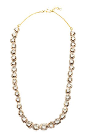 Sanjay Kasliwal 18k Gold and Diamond Royal Necklace