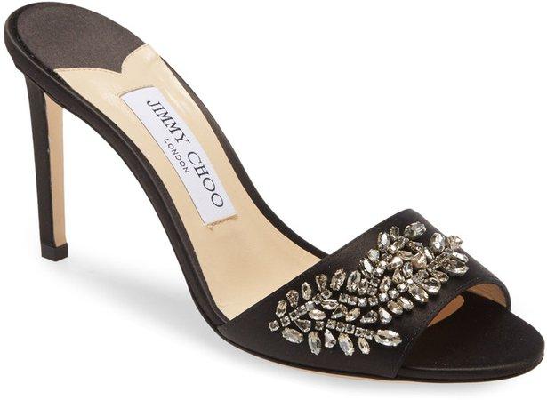 Stacey Crystal Embellished Slide Sandal