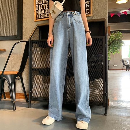 Whoosh Wide-Leg Jeans | YesStyle