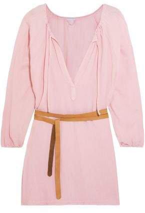Summer Of Love Juliet Belted Gauze Mini Dress