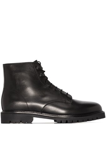 LEGRES Model 21 Leather Ankle Boots - Farfetch