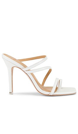 Black Suede Studio Cindy Sandal in White Leather | REVOLVE