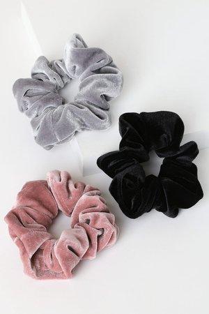 Adorable Scrunchie Set - Velvet Scrunchie Set - Ponytail Holders - Lulus