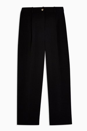 Black Clean Straight Trousers | Topshop