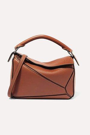 Puzzle Mini Textured-leather Shoulder Bag - Tan