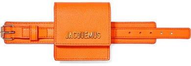 Le Sac Mini Textured-leather Bracelet Bag - Orange