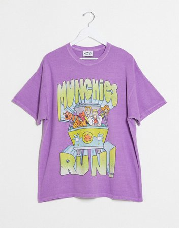 Vintage Supply oversized t-shirt with munchies graphic   ASOS