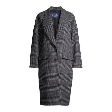 Scoop - Scoop Women's Long Plaid Coat - Walmart.com - Walmart.com grey