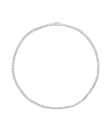 Macy's Cubic Zirconia Tennis Necklace In Fine Silver Plate & Reviews - Necklaces - Jewelry & Watches - Macy's