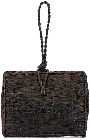 Cuzco Vaulted Straw Wristlet Bag